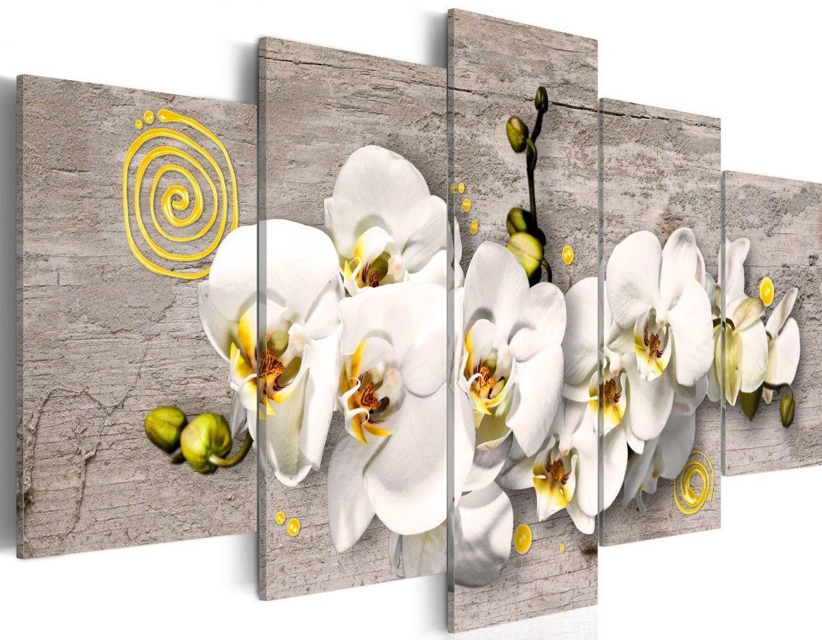 tableau 5en1 orchidée blanc et jaune , dimension globale 100 x 50 cm prix 65 euros Si vous souhaiter acheter / commander ce tableau merci de me contacter a l'adresse mail suivante : abeille047@gmail.com