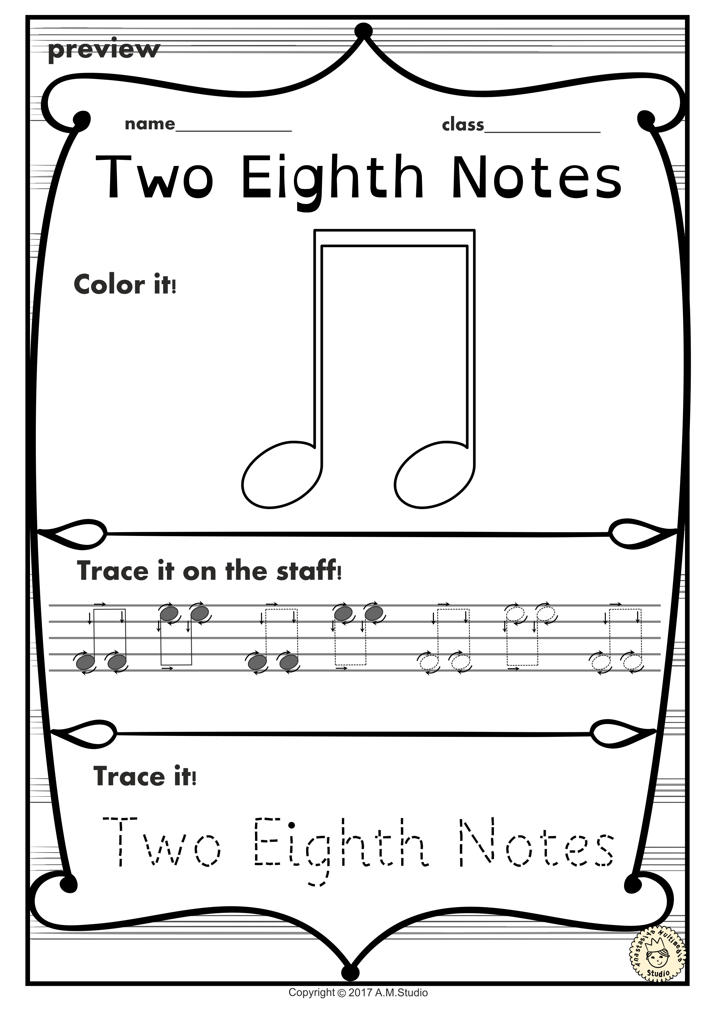 A Set Of 19 Music Worksheets Is Created To Help Your Students Learn