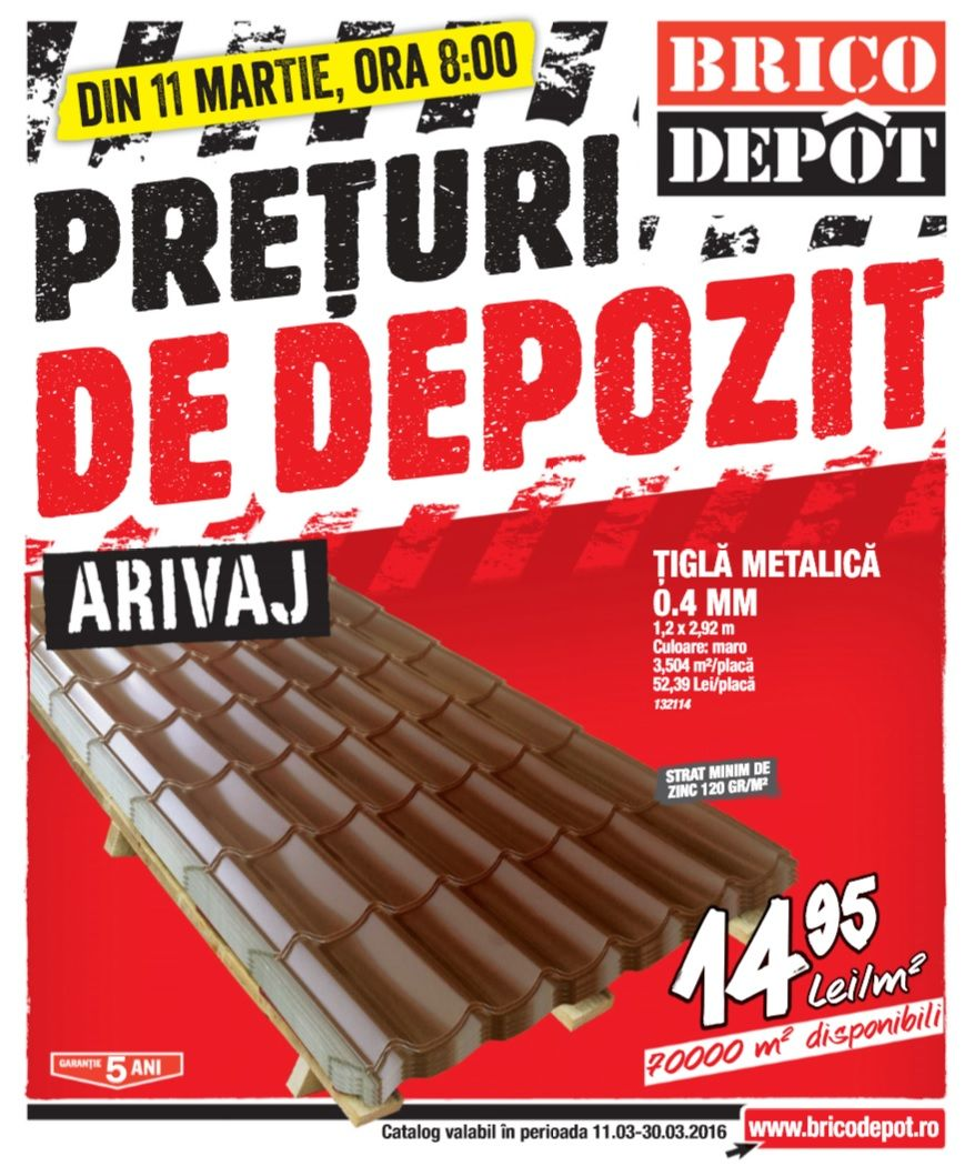 Catalog Brico Depot Preturi De Depozit 11 30 Martie 2016 Home Improvement Catalog Catalog Improve