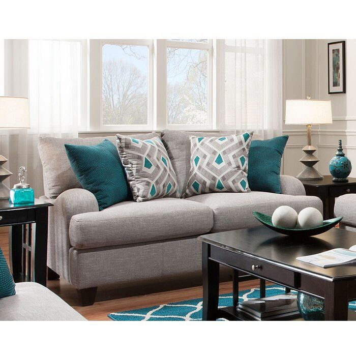 Rosalie Configurable Living Room Set In 2020 Living Room Turquoise Turquoise Living Room Decor Sofas For Small Spaces
