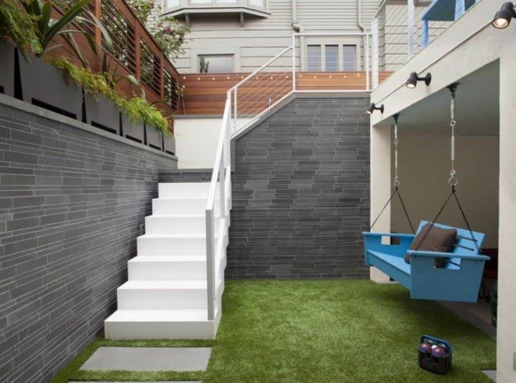 Outdoor Stairs Play Up The Exterior
