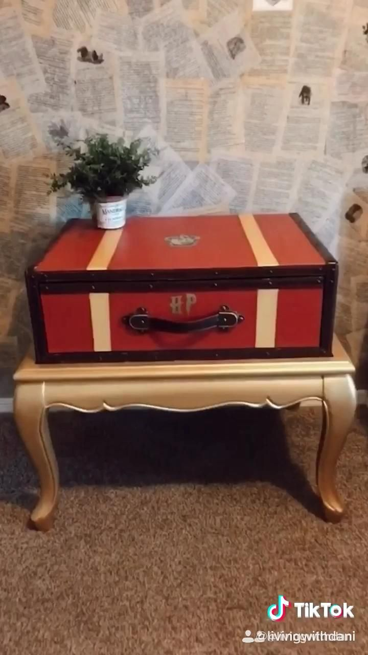 Photo of Thrifted tables turned Harry Potter Trunks