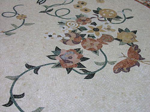 Tile floor design bellagio conservatory las vegas tile floor artistic tile floor design in the bellagio conservatory in las vegas http tyukafo
