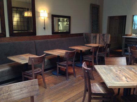 Good Reclaimed Wood Restaurant Tables | Wire Brushed Oak