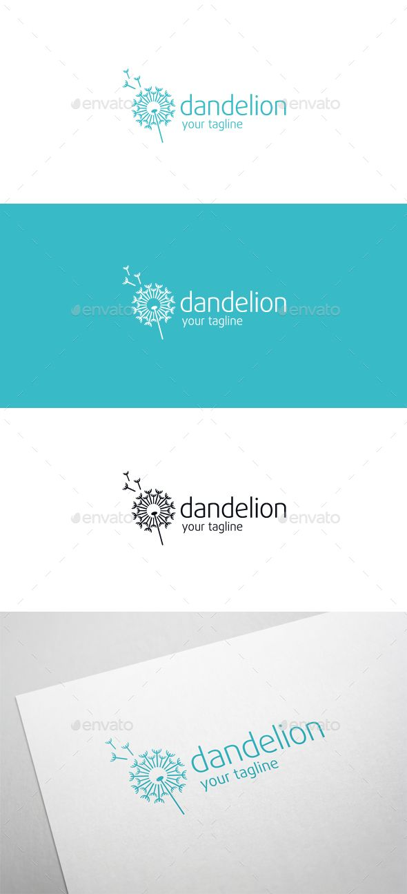 dandelion pinterest ai illustrator logo templates and logos