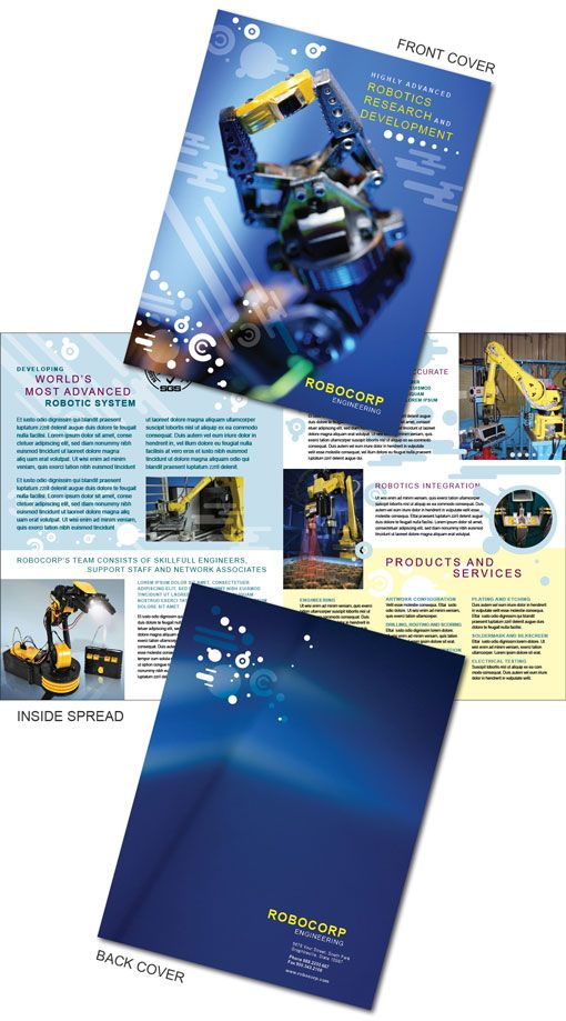 Free InDesign Templates Of Brochures For High Technology Companies - Technology brochure template