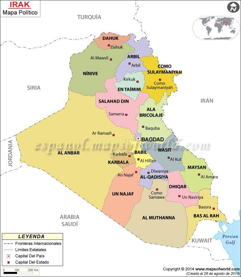 Mapa de iraq asia mapa de iraq gumiabroncs Gallery