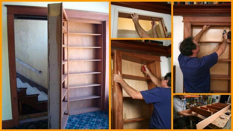DIY Bookshelf Door, Iu0027m Planning On Making A Half Door At The Top