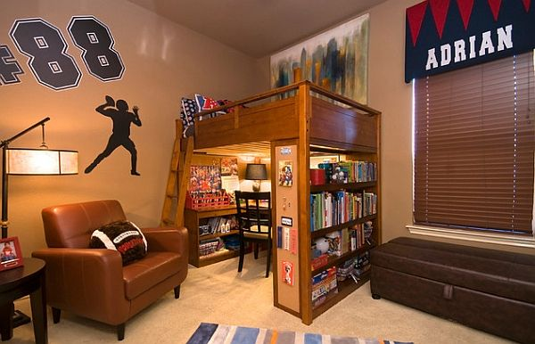 Loft Bed That Features An Entire Study Room Underneath Home Decor