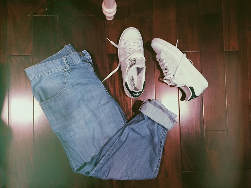 boyfriend jeans and stan smith's are a simple necessity to your closet this year!