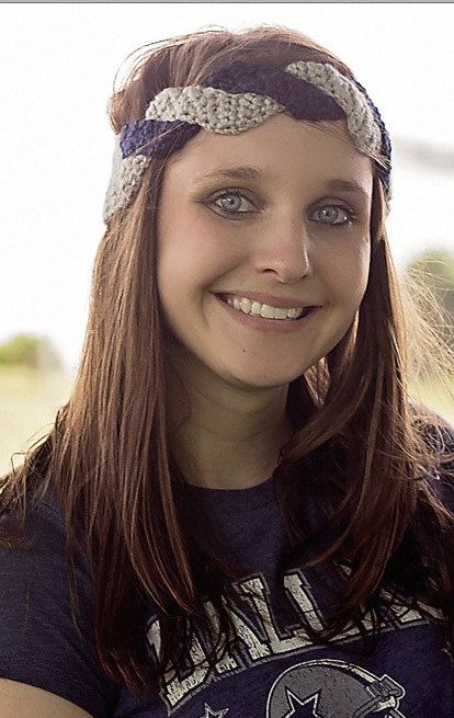 99babcdec Dallas Cowboys Inspired Braided Headband by Props4Play on Etsy ...