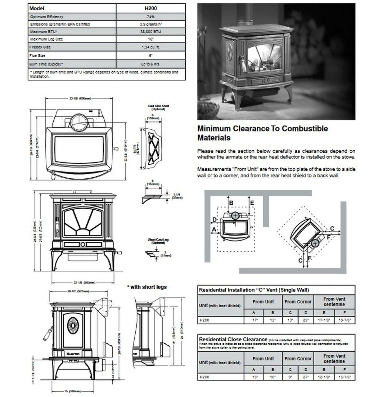 Regency Hampton H200 Wood Stove Wood Stove Fireplace Stores Gas Fireplace Insert