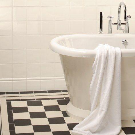 Cambridge Pattern With Cavendish Border Corner Original Style White Bathroom Tiles Victorian Tiles Bathroom Victorian Style Bathroom