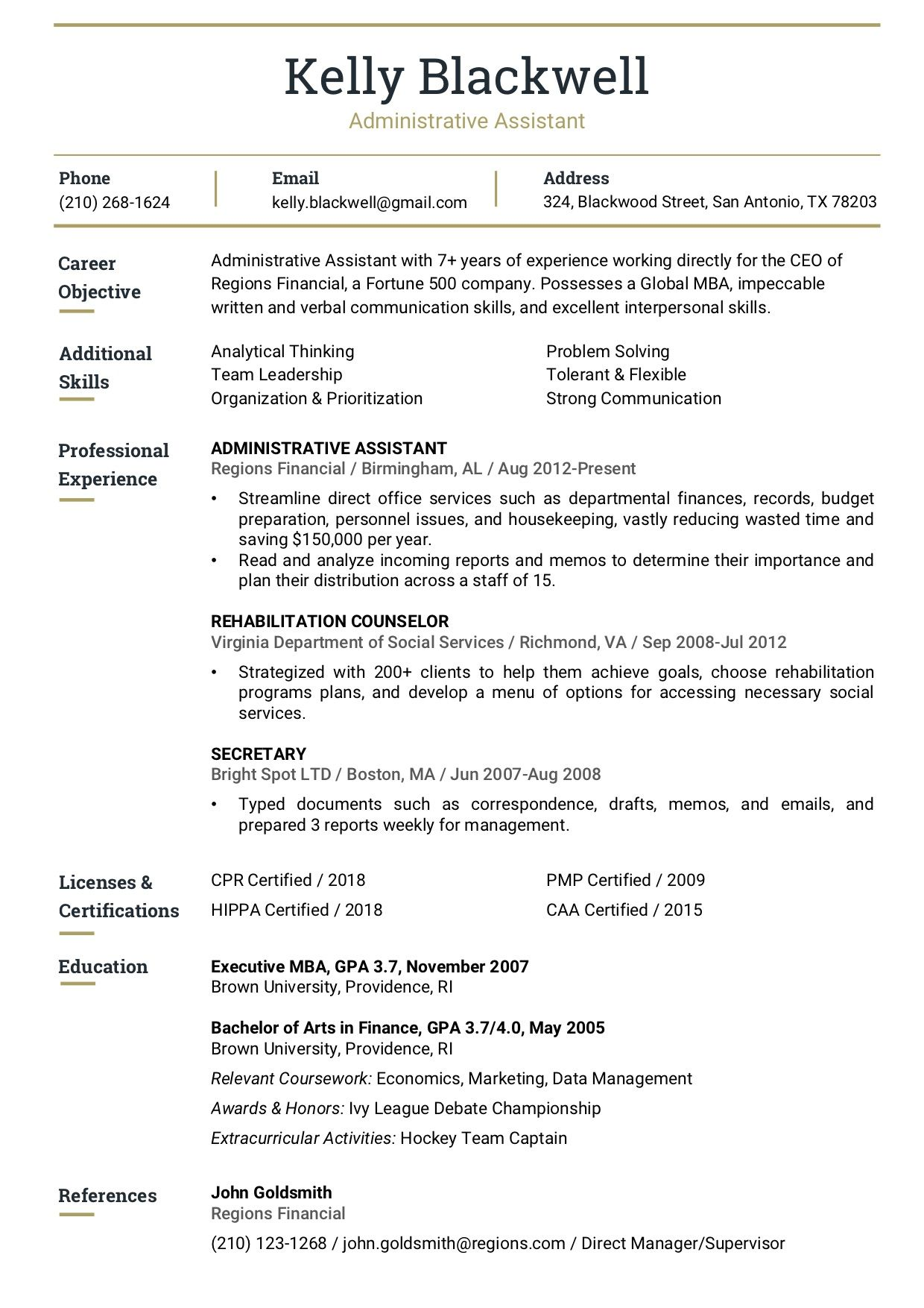 Resume Template 7A RC Resume templates, Resume