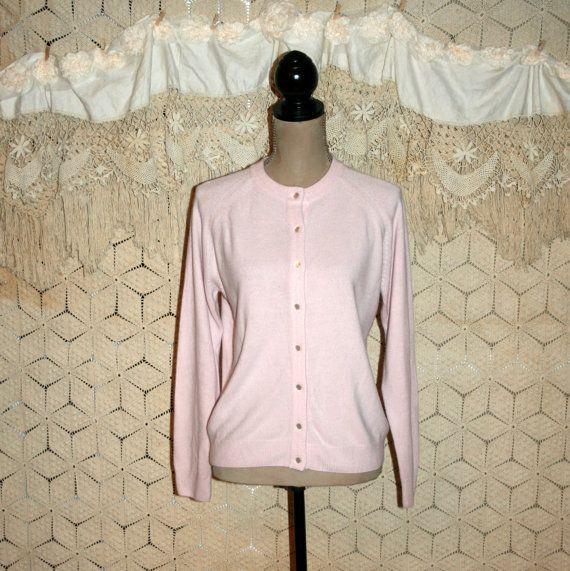 Light Pink Cardigan Light Pink Sweater Boho Grunge Rockabilly Pink ...