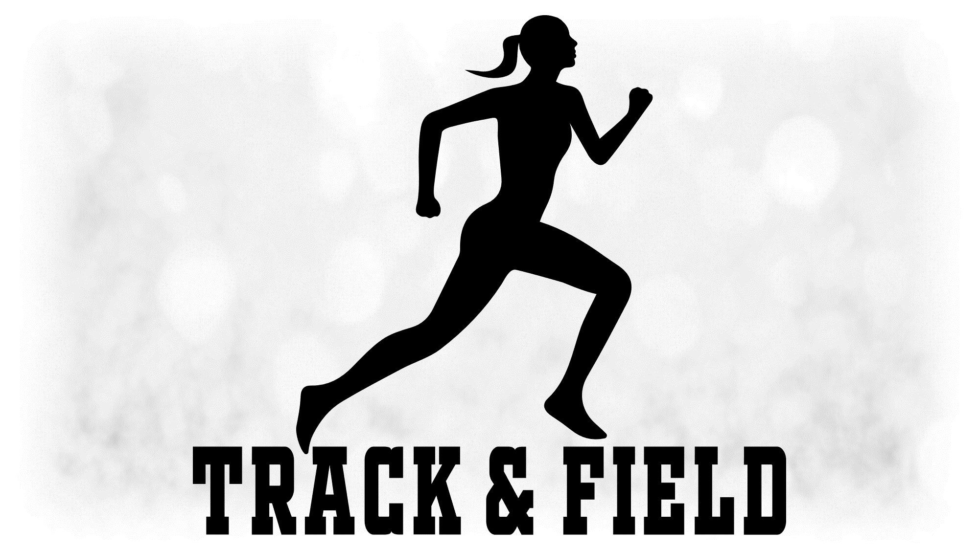 Sports Clipart Large Black White Female Athlete Running Etsy In 2021 Track And Field Track And Field Athlete Track And Field Sports