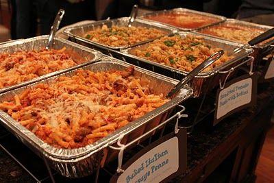 Kelly's Healthified Kitchen: Pasta Bar Menu for 30
