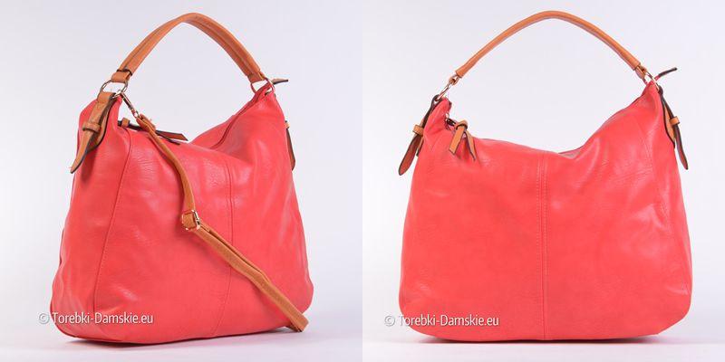 ef5ab06717726 Czerwona duża torba damska z najnowszego katalogu. Wymiary 43x34 cm ...