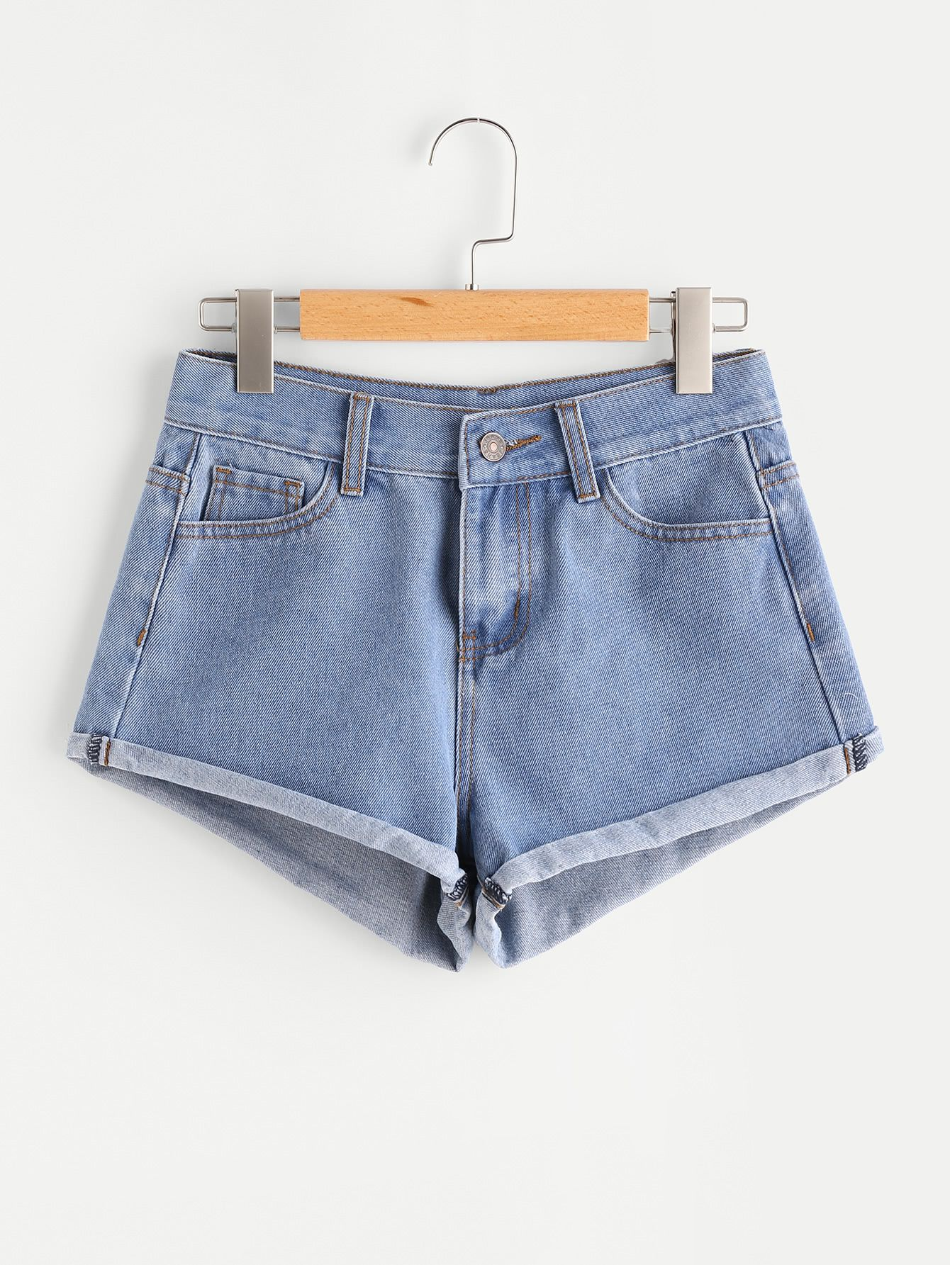 6f3e67fe26b Shop Light Wash Cuffed Denim Shorts online. SheIn offers Light Wash Cuffed  Denim Shorts   more to fit your fashionable needs.
