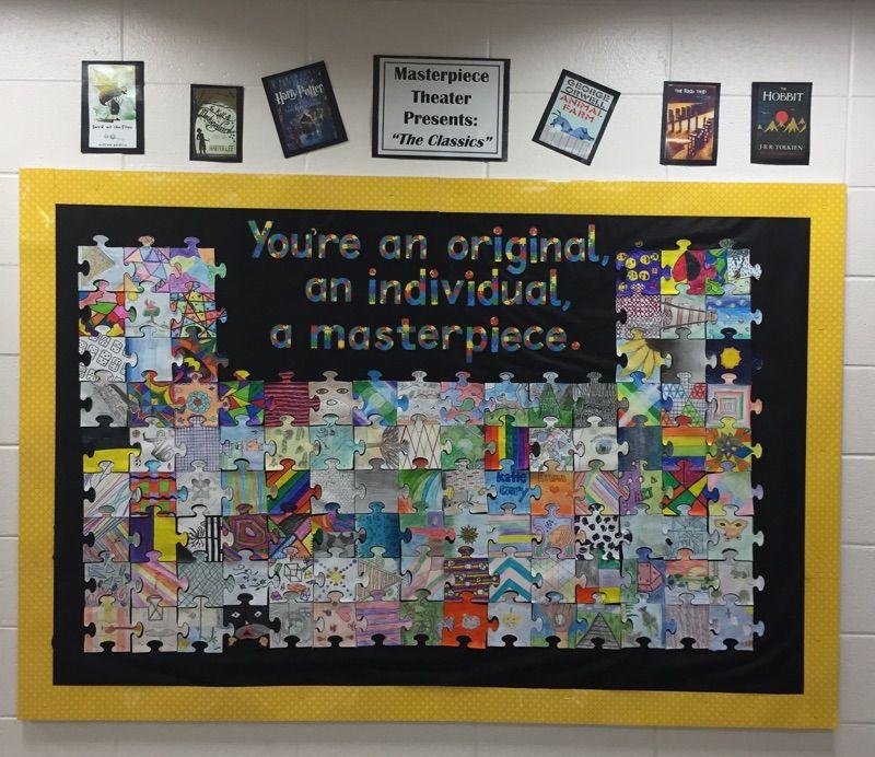 Display Ideas Re: You're An Original Puzzle Piece Bulletin Board