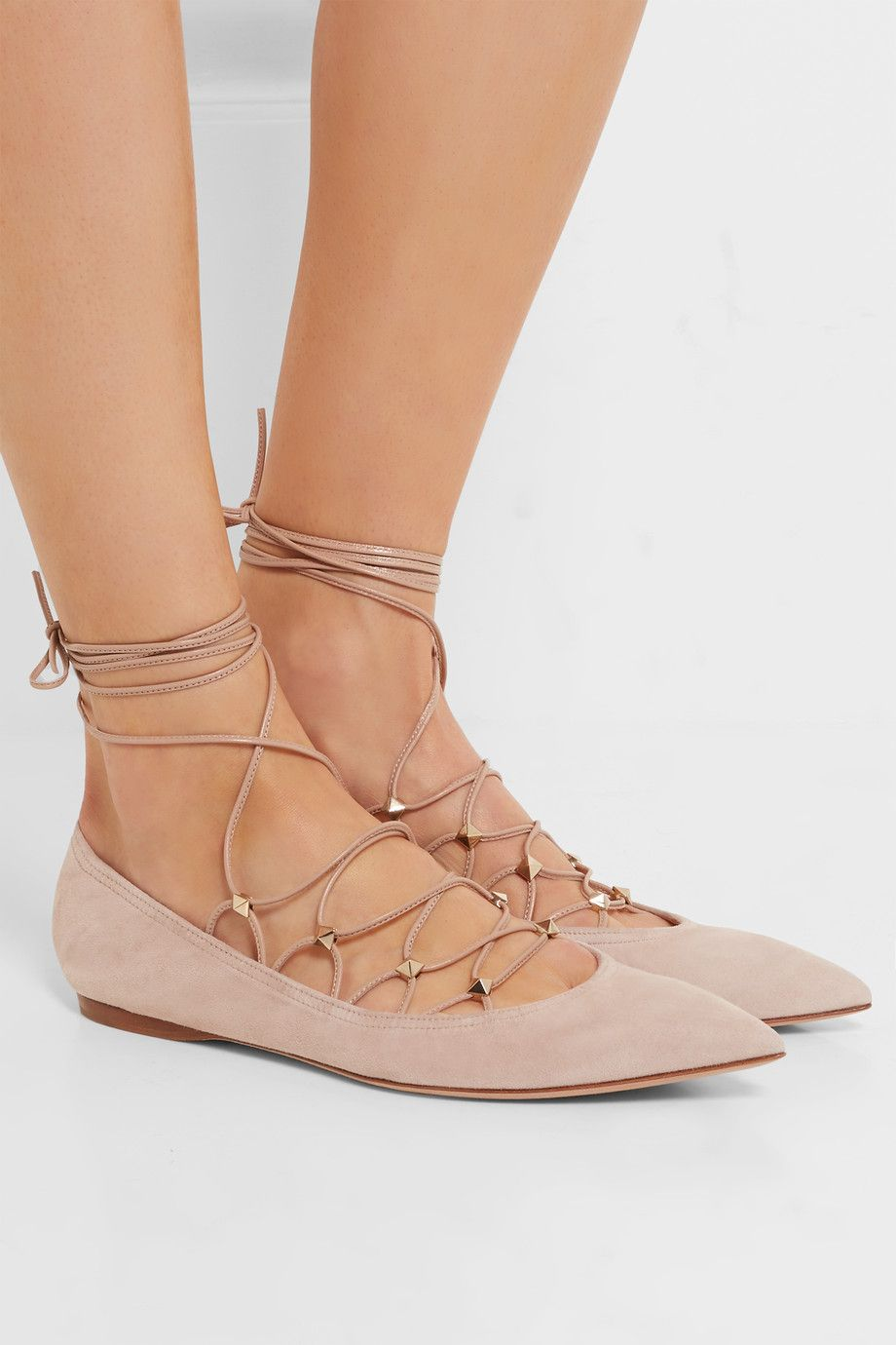 Valentino Lace Pointed-Toe Flats sale outlet locations Y2h89ft