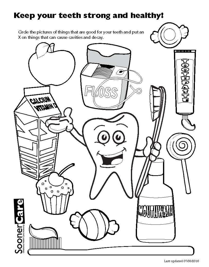 Tooth Coloring Pages Cartoon Tooth And Toothbrush Coloring