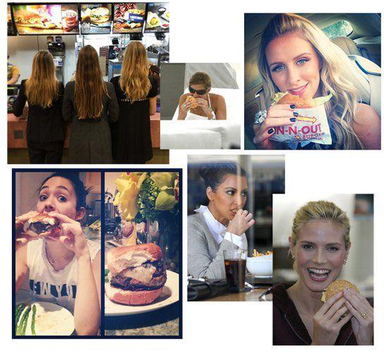 4 Recetas de hamburguesas realizadas por famosas y modelos ¡Tú puedes comerlas!