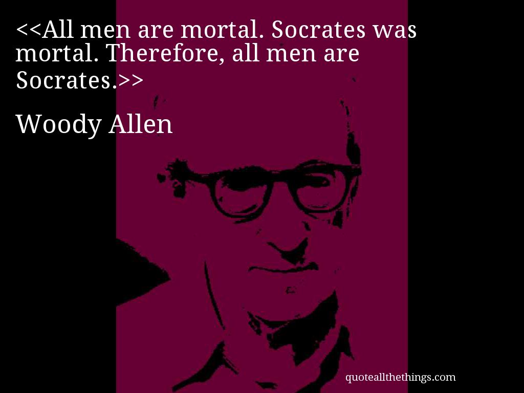 Woody Allen - quote