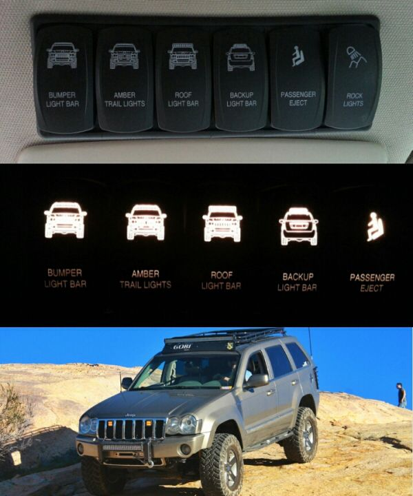 Omlets Custom Switches Jeep Wk Jeep Wj 2006 Jeep Grand Cherokee