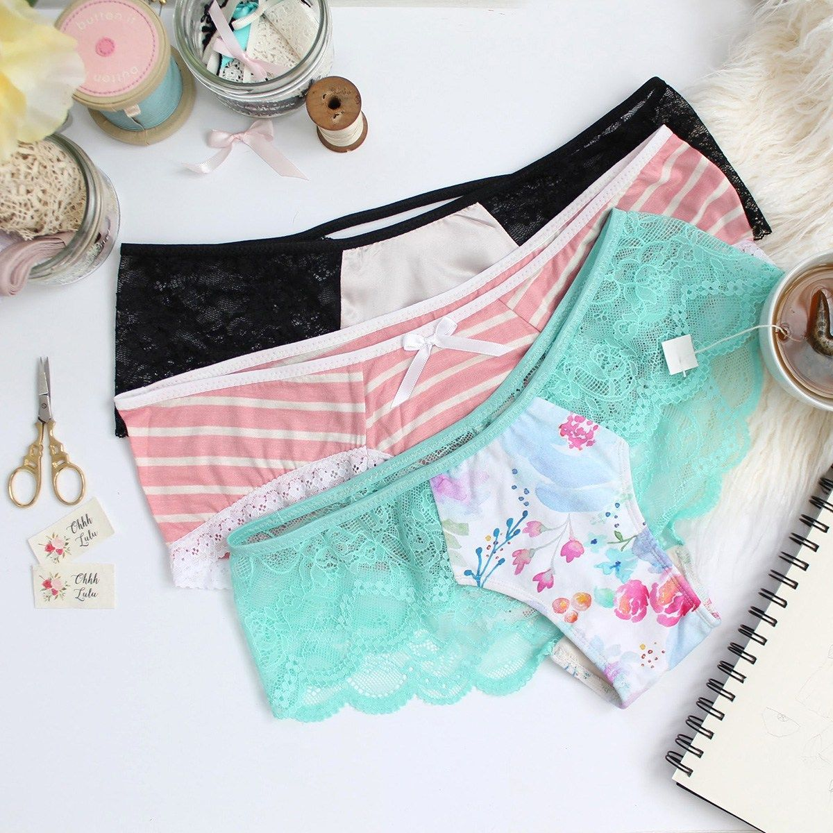 Claudia Hipster Panties PDF Sewing Pattern – Ohhh Lulu | Patterns To ...