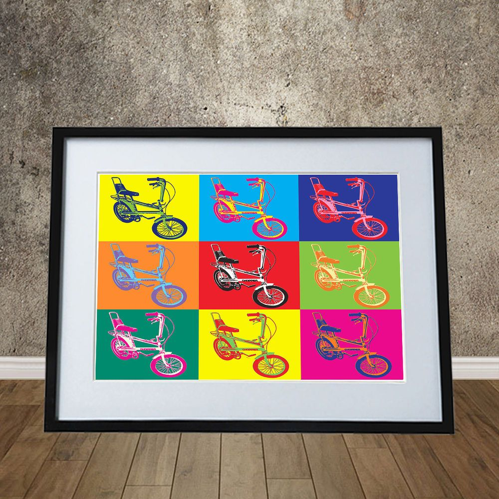 """Raleigh Chopper"", ""Pop Art"", Bicycle, Poster, Warhol"
