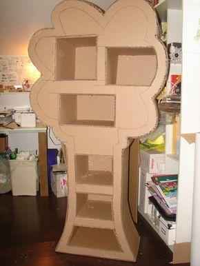 Bibliotheque En Carton Sarahscrap Maison En Carton Mobilier En Carton Meuble En Carton