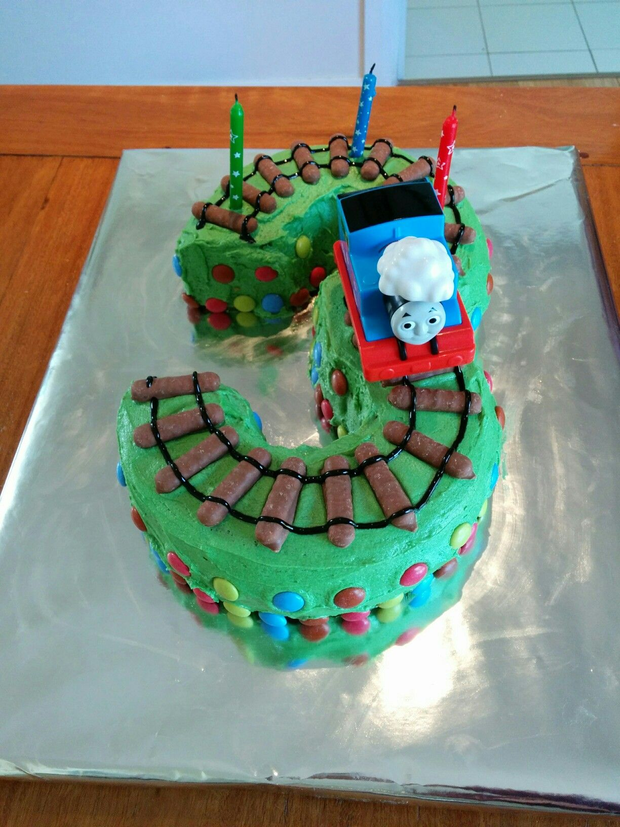 Thomas The Tank Engine Number 3 Cake