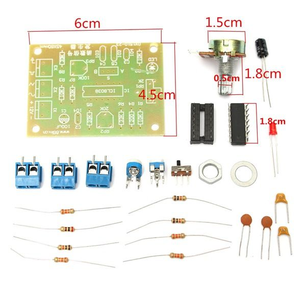 DIY ICL8038 Function Signal Generator Module Sine Square Triangle ...