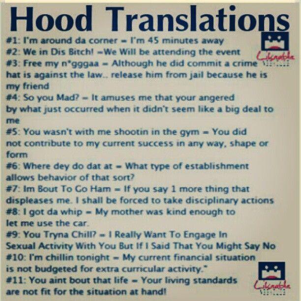 Hahahhhaha! Hood Talk | Funny ghetto quotes, Ghetto humor ...