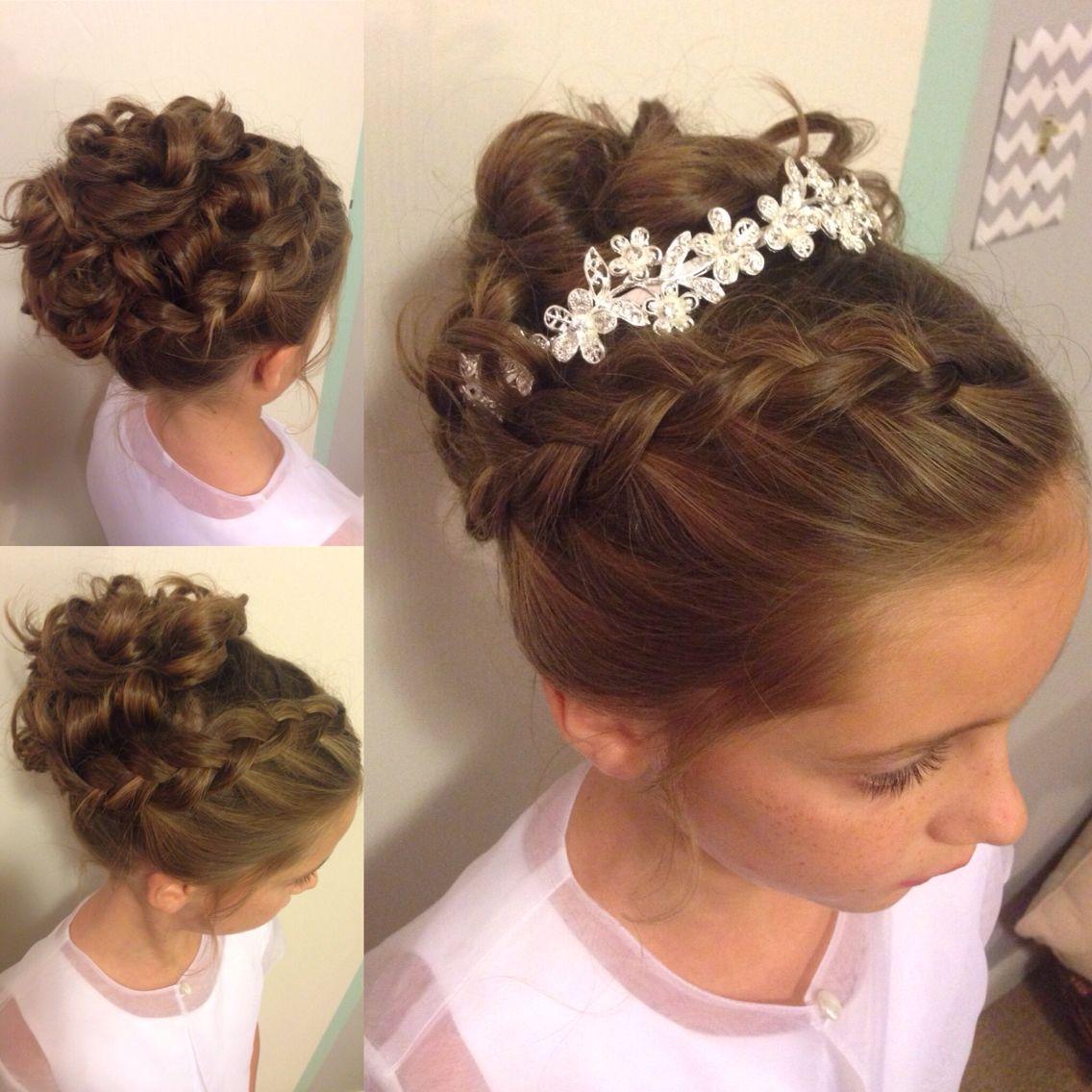little girl updo. wedding hairstyle