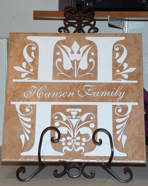 vinyl lettering for crafts name tile silhouette crafts tile projects silhouette 25437 | 09d87d7a4bb09ada07975d408cb9b178