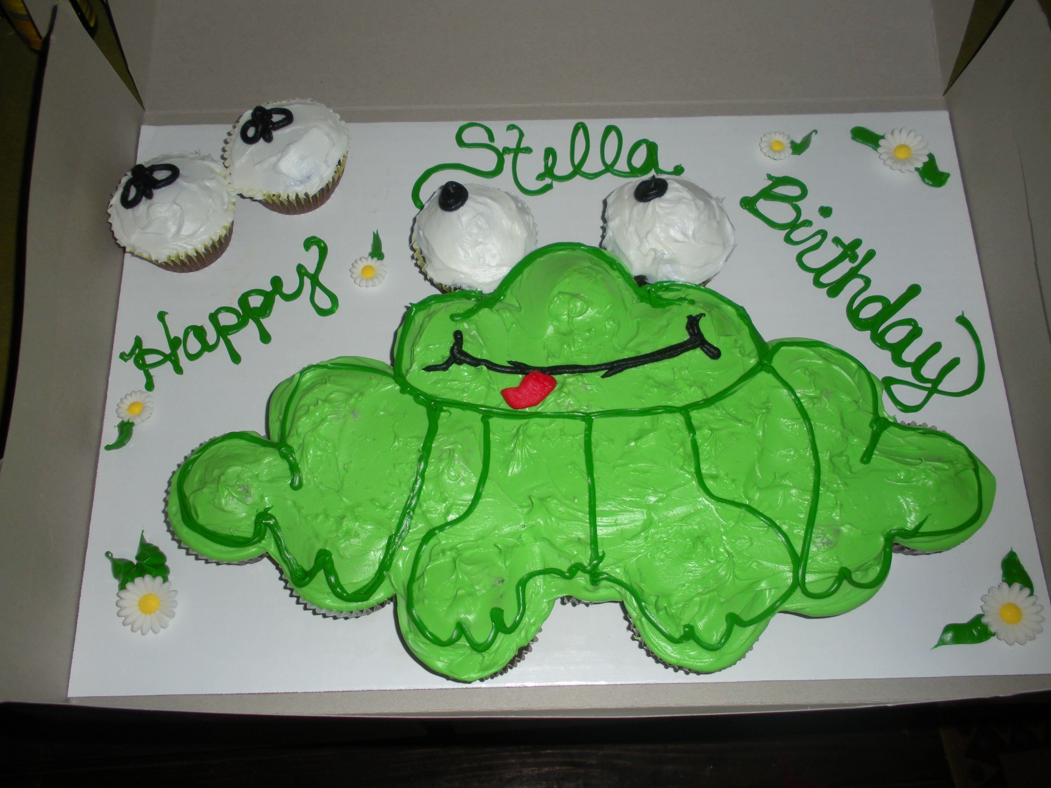 Frog Cupcake Cake Cupcake Cakes Pull Apart Cupcake Cake Frog Cakes