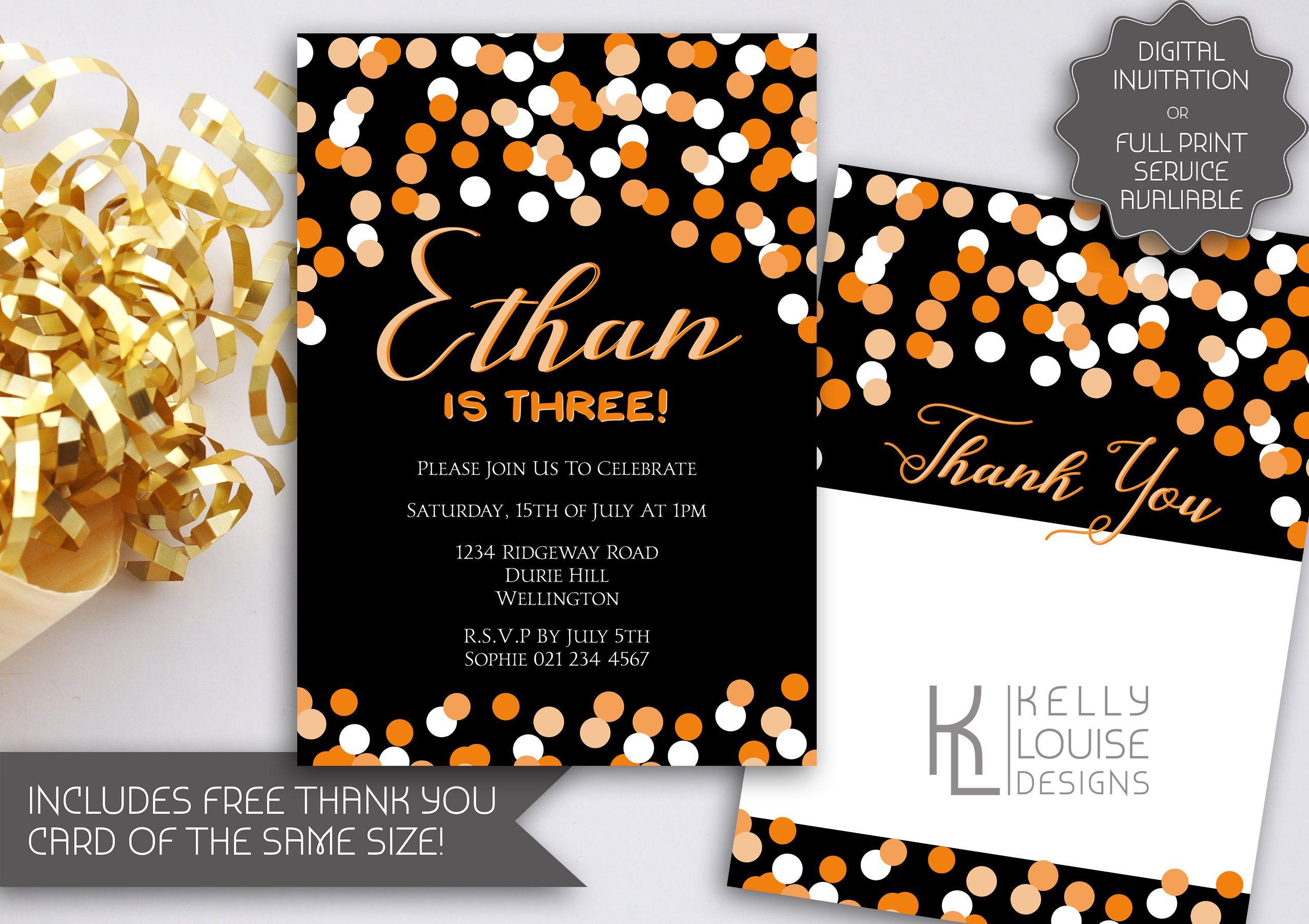 Confetti Birthday Invitation | Printable Confetti Invitation ...