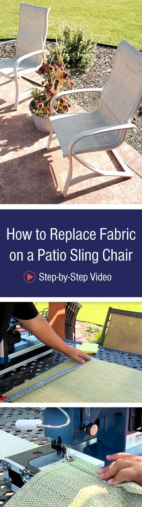 How to Replace Fabric on a Patio Sling Chair #furnitureredos