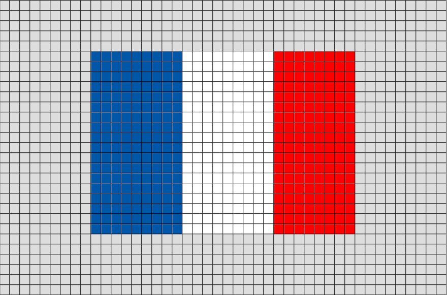 Flag Of France Pixel Art Flag Cross Stitch Pixel Art Pixel Art Grid