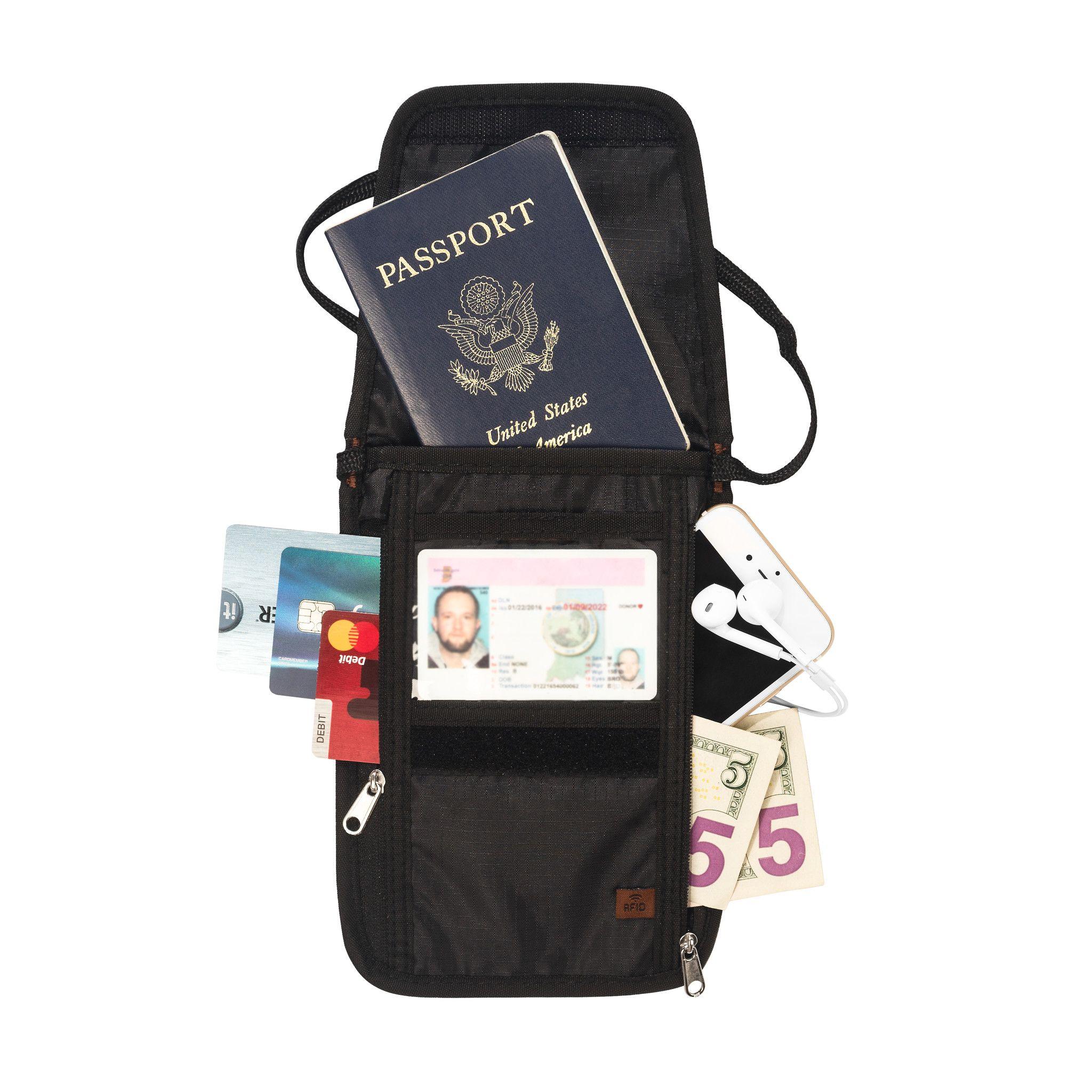 cf41bb27c938 RFID Passport Holder & Neck Wallet / Neck Stash | Wish list | Rfid ...