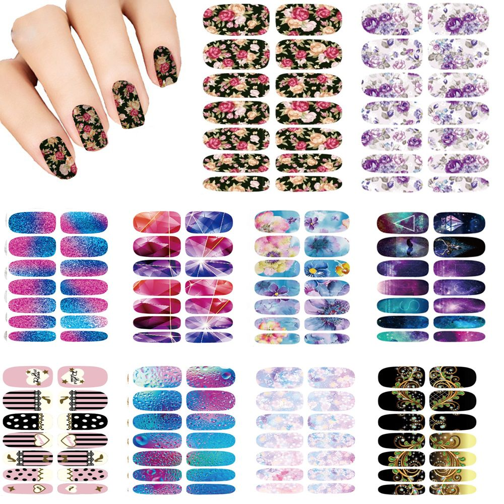Stickers decals nail stickers nail art decals fashion - Nails Art Lot Flower Mystery Galaxies Design Stickers For Nails Manicure Decor Fashion Nail Stickers Wraps Water Sticker Decals This Is An Aliexpress