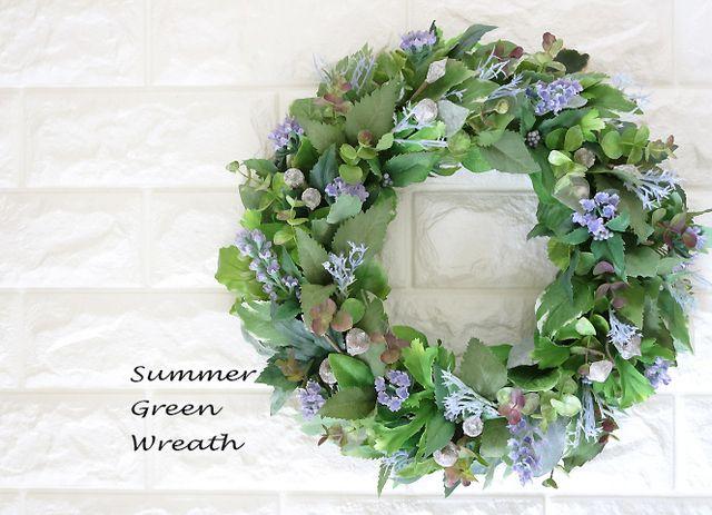 SummerGreen&BlueWreath35   ハンドメイドマーケット minne