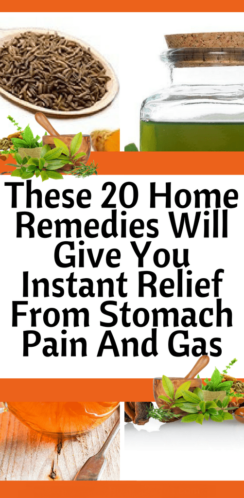 Below are 20 home remedies for stomach pain and gas to help
