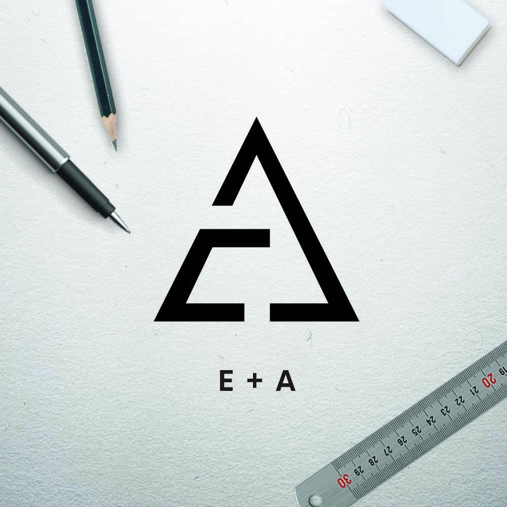 EA Concrete Logo Design
