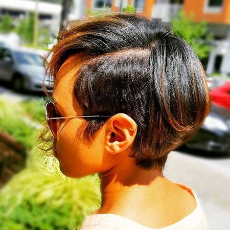Short Relaxed Pixie Hair Short Relaxed Hairstyles For Black Women Short Relaxed Hairstyles Relaxed Hair Black Ponytail Hairstyles