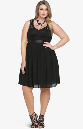 Torrid Scalloped Lace and Chiffon Dress Plus Size #plussize ...