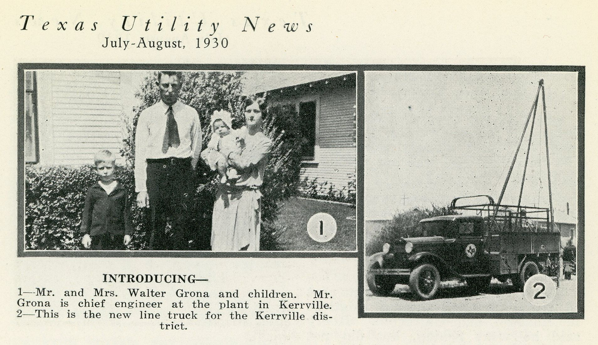 July August 1930 Texas Utility News Kerrville Texas Kerrville