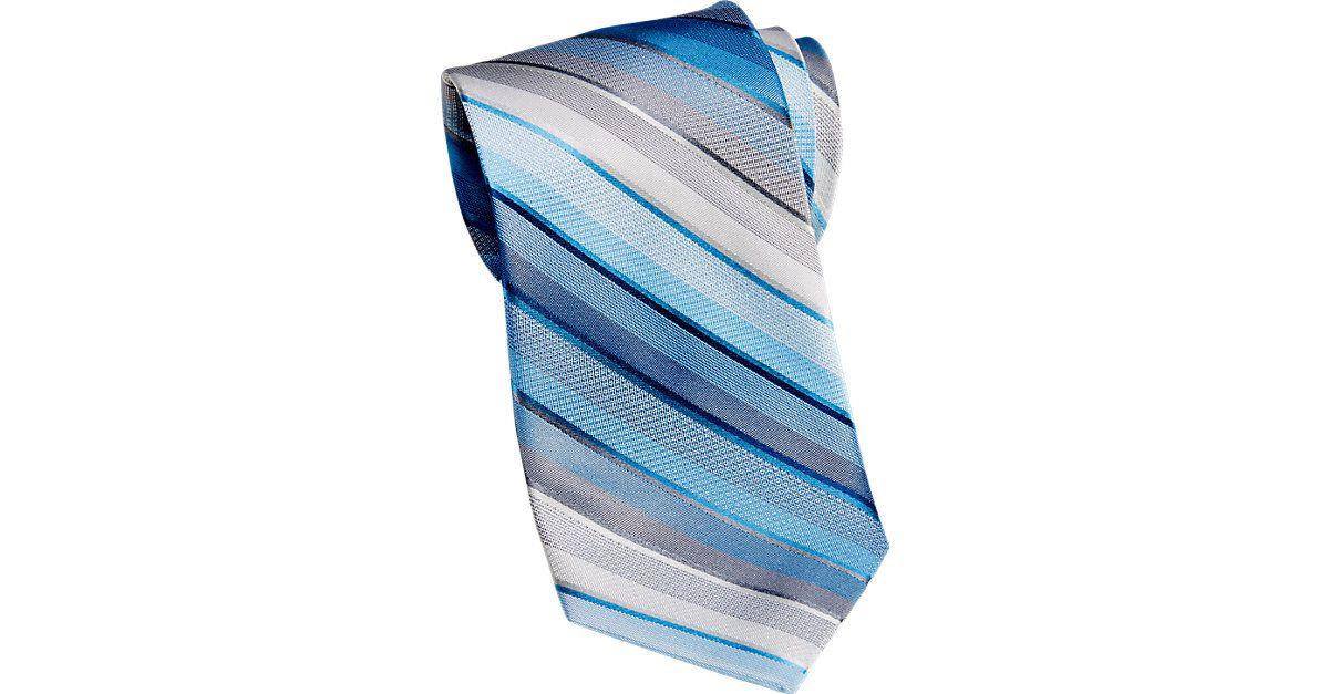 "Check this out! Calvin Klein Blue Stripe Narrow Tie - Narrow (3 to 3 1/4"") from MensWearhouse. #MensWearhouse"